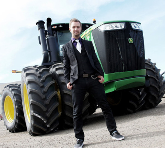 Country music artist Codie Prevost, who grew up on a farm near Archerwill, Saskatchewan, had the honor of arriving at the CCMA Awards green carpet in a big way -- a John Deere 9410R Tractor. John Deere, which is celebrating its 175th anniversary, was the green carpet sponsor of this year's awards program. Every Tuesday night at 9 p.m. EST, Codie Prevost hosts a Tweetchat with his fans online. To interact with Codie, visit www.tweetchat.com and enter #codieprevost to ask Codie questions. (CNW Group/John Deere)