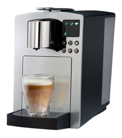 The new Verismo™ System by Starbucks. The only high-pressure premium at-home brewing system that crafts Starbucks-quality beverages one cup at a time. 585 model shown in silver. (CNW Group/Starbucks Coffee Company)