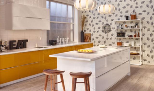 Nouvelle cuisine IKEA SEKTION conçue pour Jessi Cruickshank à la House of Kitchens d'IKEA (Groupe CNW/IKEA Canada)