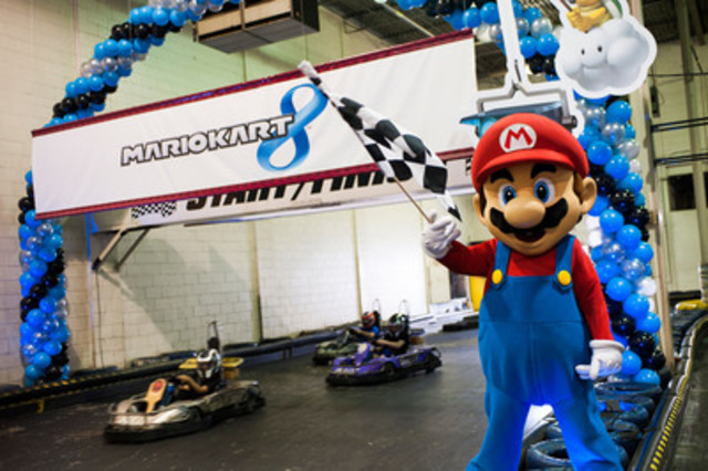 Start your engines! Mario, one of the most recognizable video game characters of all time, was in Toronto on May 31st to host Mario's Canadian Karting Day for go-karting fans in celebration of the launch of Mario Kart 8 for Wii U, the newest instalment in the fan-favourite video game series from Nintendo. (CNW Group/Nintendo of Canada Ltd.)