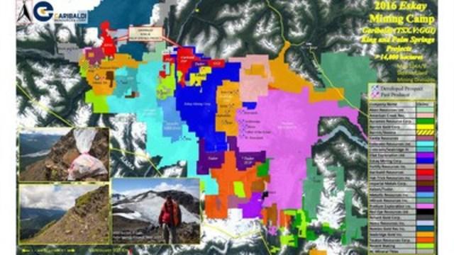 2016 Eskay Mining Camp - Garibaldi (TSX.V:GGI) King and Palm Springs Projects (CNW Group/Garibaldi Resources Corp.)
