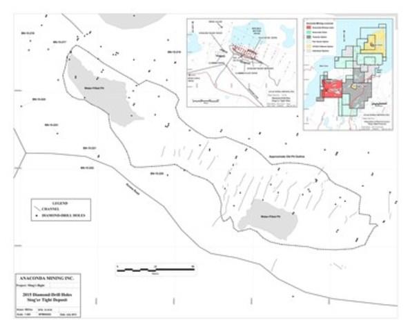 Exhibit A: Stog'er Tight Location Map (CNW Group/Anaconda Mining Inc.)