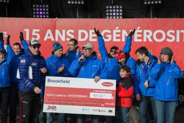 Brookfield Renewable is proud to celebrate its tenth year of participation in Tremblant's 24h with a total contribution of $ 426,521. (CNW Group/Tremblant's 24h)