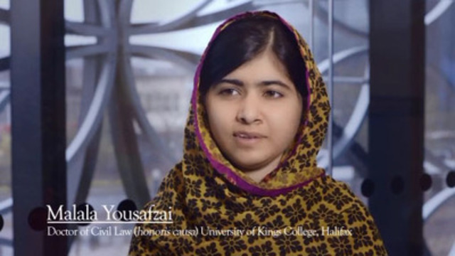Malala thanks King's for creating scholarships