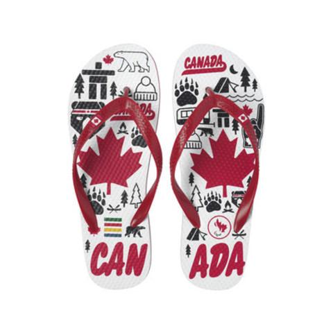Les Para flip-flops de La Baie d'Hudson pour soutenir la Fondation Paralympique du Canada (Groupe CNW/la Baie d'Hudson)