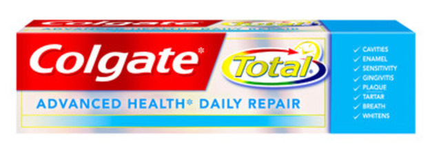 Colgate Total* Advanced Health* Daily Repair Toothpaste helps reverse early damage† to teeth and gums for better oral health. (CNW Group/Colgate-Palmolive)