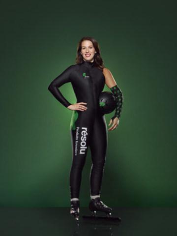 Partenariat entre Produits forestiers Résolu et Marianne St-Gelais, championne mondiale et triple médaillée olympique de patinage de vitesse sur courte piste, pour les saisons 2016 à 2019. (Groupe CNW/Produits forestiers Résolu Inc.)