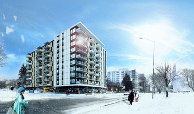 Fonds immobilier de solidarité FTQ Invests in New Campari Residential Rental Project in Sainte-Foy (CNW Group/Fonds immobilier de solidarité FTQ)