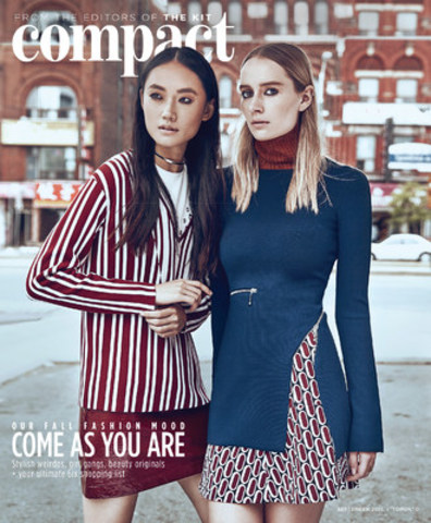 The September issue of The Kit's new pop-up magazine, The Kit Compact, hits Toronto streets today. (CNW Group/THE KIT)