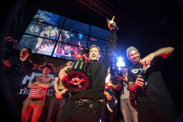 DJ Shintaro of Japan crowned Red Bull Thre3Style 2013 World Champion (Dale Tidy/Red Bull Content Pool) (CNW Group/Red Bull Thre3Style)