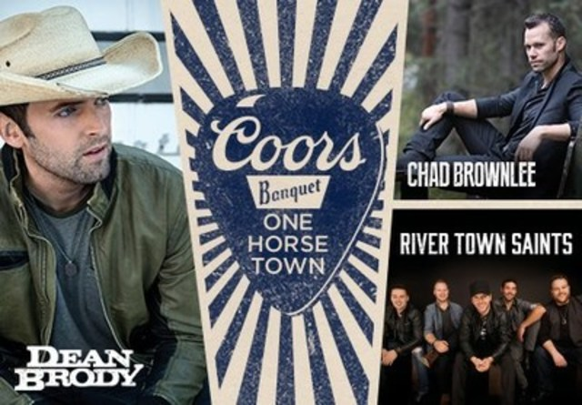 Coors Banquet will reward one small town in Canada with a big country music concert featuring Dean Brody, Chad Brownlee and River Town Saints. (CNW Group/Molson Coors Canada)