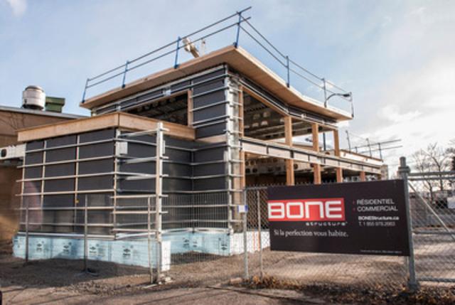 Agrandissement du resto-bar Brasseur de Montréal fait par BONE Structure (Groupe CNW/BONE Structure)