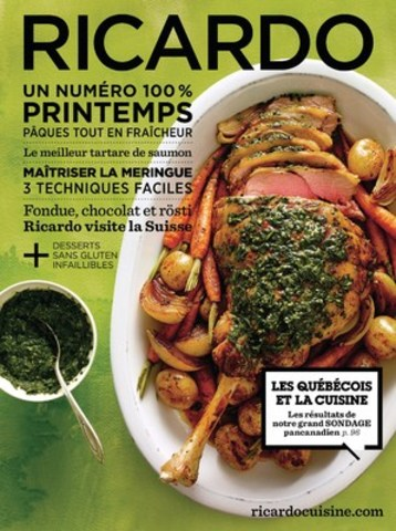 COMMENT MANGEZ-VOUS? - Le grand sondage Ricardo/Léger Marketing 2016 sur les habitudes alimentaires des Canadiens, présenté dans le numéro Printemps du magazine RICARDO. (Groupe CNW/Ricardo Media)
