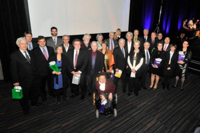 À l'occasion de son 50e anniversaire, l'Ordre des urbanistes du Québec remet le prix Blanche-Lemco-Van-Ginkel à 30 personnalités québécoises. Photographe : Jean-Luc Laporte (Groupe CNW/Ordre des urbanistes du Québec)