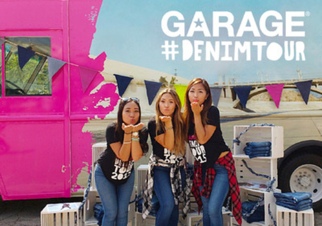FREE JEANS FOR ALL: Garage celebrates its 40th anniversary with its first ever Denim Tour. The brand will distribute free jeans to students on select college campuses in New York, New Jersey and Connecticut throughout the month of September. Follow the truck at #denimtour #iweargarage. (CNW Group/Groupe Dynamite Inc.)