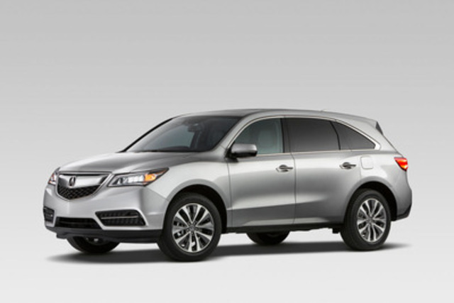 """The 2014 Acura MDX has been selected as a finalist for Canadian Utility Vehicle of the Year"" (CNW Group/Acura Canada)"