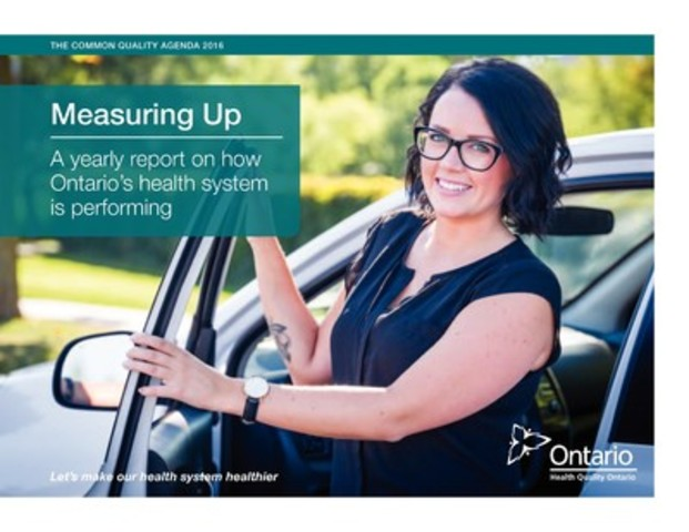 2016 marks the 10-year anniversary of Health Quality Ontario's yearly report on the performance of Ontario's health system and offers the broadest portrayal of health care quality to date. (CNW Group/Health Quality Ontario)