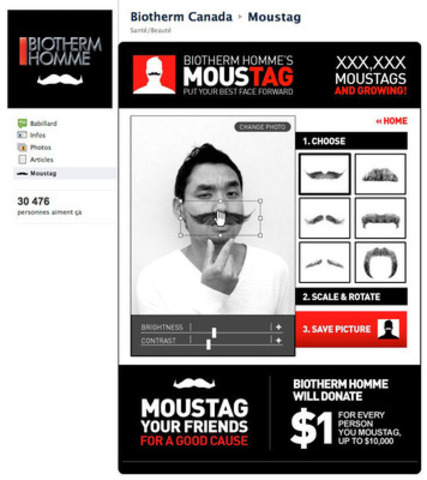 «MOUSTAG your friend» - Biotherm Homme supports the fight against prostate cancer. (CNW Group/Biotherm)