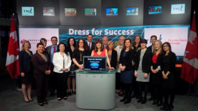 Opening the Market for the Bay Street Suit Challenge on April 30th, 2014 at the TMX Broadcast Centre. (CNW Group/Dress for Success)