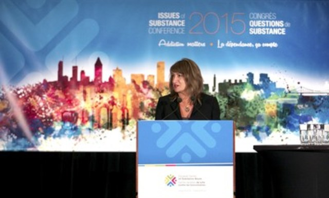 National Release of Report on Marijuana by the Canadian Centre on Substance Abuse (CCSA) at national Issues of Substance Conference in Montreal, Rita Notarandrea,Chief Executive Officer, CCSA, Pinpoint National Photography (CNW Group/Canadian Centre on Substance Abuse)