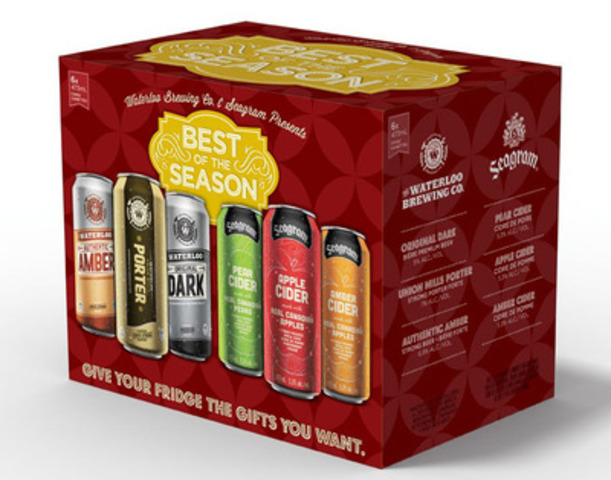 Waterloo Seagram Collection Pack (CNW Group/Brick Brewing Co. Limited)