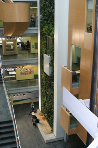 Five story bio-wall at Algonquin College Centre for Construction Excellence (CNW Group/EllisDon Corporation)