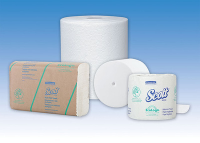 Kimberly-Clark Professional is the first major North American tissue manufacturer to introduce products that contain alternative, non-tree fibers. Its launch of four new towel and tissue products includes a Kleenex towel and coreless bath tissue offering with 20% bamboo fiber, and a Scott towel and bath tissue product with 20% wheat straw fiber. (CNW Group/Kimberly-Clark Professional)