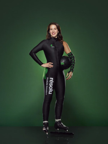 Resolute Forest Products to sponsor from 2016 to 2019 Marianne St-Gelais, world champion and winner of three Olympic medals in short track speed skating. (CNW Group/Resolute Forest Products Inc.)