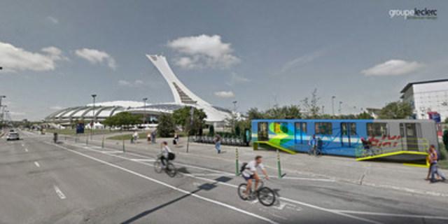 Une nouvelle vie pour 73 voitures de métro désaffectées, MR-63 (Matériel Roulant 1963) : le Groupe Leclerc  , firme d'architecture et de design montréalaise, propose de les transformer en abris sécurisés pour entreposer des vélos, les réparer et en louer. (Groupe CNW/Groupe Leclerc)