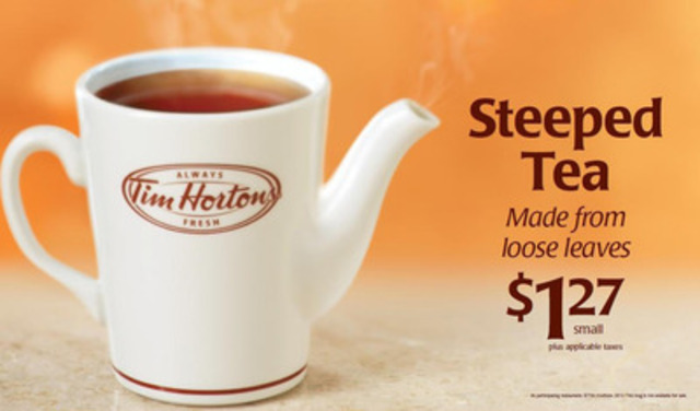 Tea lovers across Quebec will now be able to enjoy the comfort of a premium quality Loose Leaf Steeped Tea at Tim Hortons. (CNW Group/Tim Hortons Inc.)