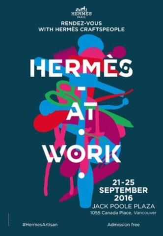 """Hermès at Work"" in Vancouver September 21-25, 2016. (CNW Group/Hermes Canada inc.)"