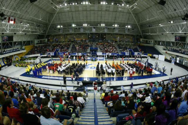 Cérémonie d'ouverture au Championnat du monde féminin de basketball en fauteuil roulant 2014 au Mattamy Athletic Centre, à Toronto, Ont. (Groupe CNW/Basketball en fauteuil roulant Canada)