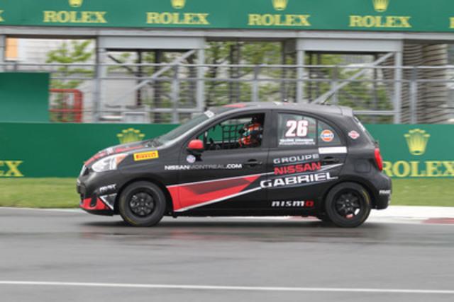 Valérie Chiasson a écrit une page de l'histoire du sport automobile canadien ce week-end. (Groupe CNW/Nissan Canada Inc.)