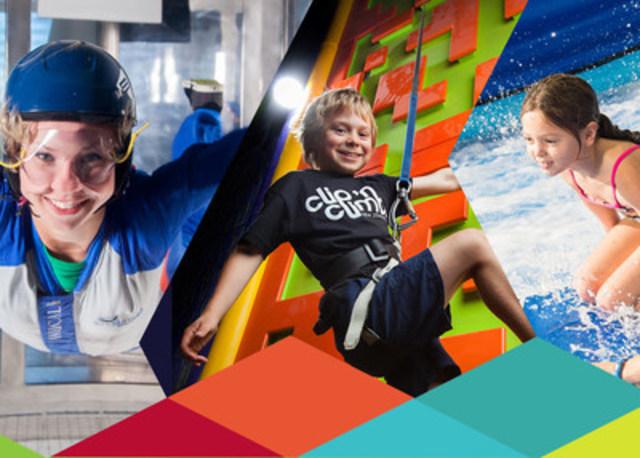 Saviez-vous qu'à Laval, on peut grimper, sauter, surfer et même s'envoler 12 mois par année ! (Groupe CNW/Tourisme Laval)