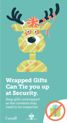 Keep gifts unwrapped. (CNW Group/Canadian Air Transport Security Authority (CATSA))