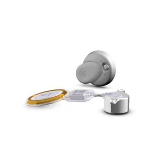 implant BONEBRIDGE et processeur audio (Groupe CNW/MED-EL)