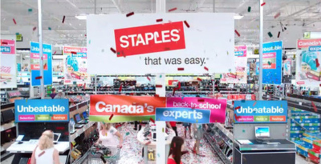 "Staples Canada celebrates back to school with a twist on the iconic ""It's the most wonderful time of ..."