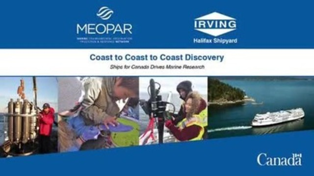 Aujourd'hui, le réseau MEOPAR (Marine Environmental Observation Prediction and Response) et Irving Shipbuilding ont annoncé un financement s'élevant à 1,8 million $, afin de soutenir neuf initiatives de recherche océanique en vue de renforcer la capacité du Canada à anticiper les risques marins et à y faire face. https://vimeo.com/155403482
