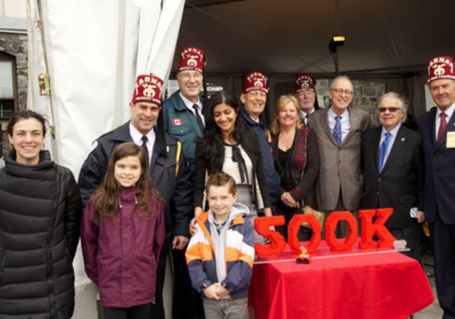MEGA brands presents its pledge to Shriners Hospitals for Children®-Canada (CNW Group/Shriners Hospitals For Children)