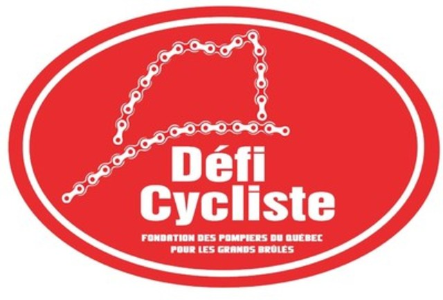 Logo : Défi cycliste de la Fondation des pompiers du Québec pour les Grands Brûlés (Groupe CNW/Fondation des pompiers du Québec pour les grands brûlés)