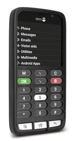 Bell adds the Doro 824C smartphone for blind customers to its portfolio of accessibility products. (CNW Group/Bell Canada)