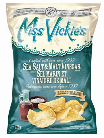 Miss Vickie's Sel marin et vinaigre de Malt (Groupe CNW/PEPSICO CANADA)