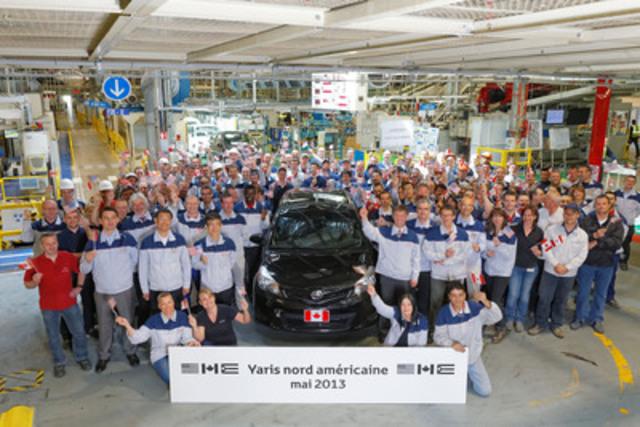 Exportation de la Yaris 2013 de TMMF vers l'Amérique du Nord (Groupe CNW/Toyota Canada Inc.)