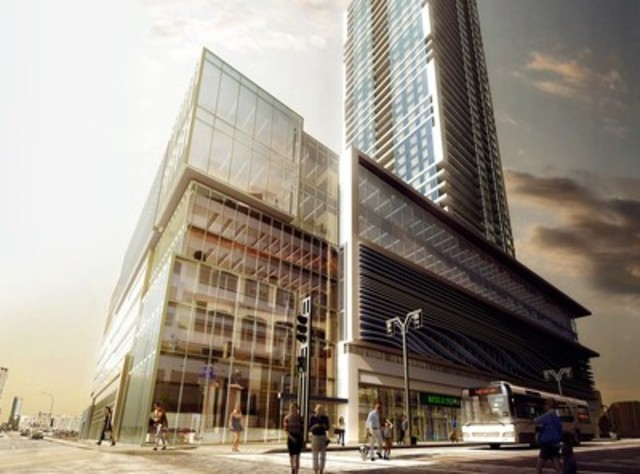 SkyCity Centre Winnipeg planned for 45 storeys in Downtown Winnipeg (CNW Group/Fortress Real Developments)