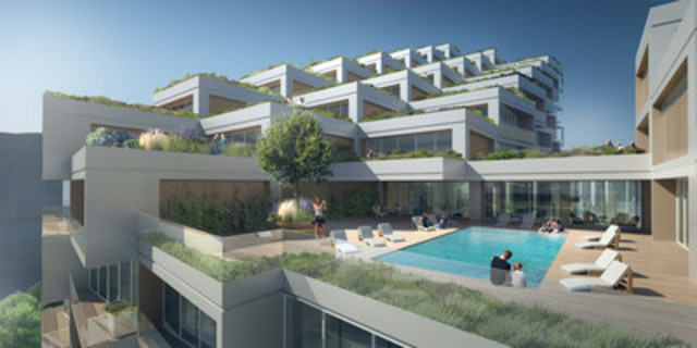 Bayside Toronto - Proposed Rendering for Phase Three, Terrace (Provided by 3XN) (CNW Group/Tridel)