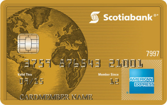 The new Scotiabank American Express® Cards - a suite of loyalty cards designed for travel enthusiasts. Customers can earn up to four points per dollar spent at gas stations, grocery stores, dining and entertainment. (CNW Group/Scotiabank - Products & Services)