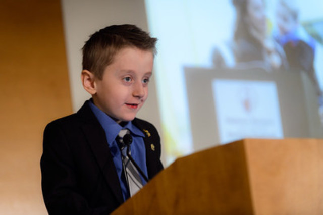 Carter Brown, Campaign Ambassador from Milestone, Saskatchewan (CNW Group/Shriners Hospitals For Children)