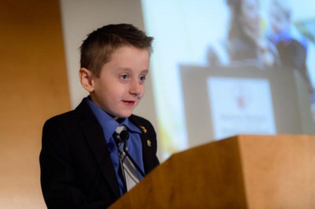 Carter Brown, Campaign Ambassador from Milestone, Saskatchewan (CNW Group/Shriners Hospitals For Children)