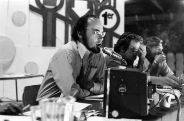 Yvon Charbonneau, ancien président, lors du premier congrès de la CEQ (aujourd'hui CSQ) en 1974 (Groupe CNW/CSQ)