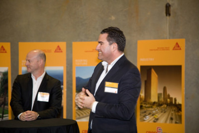 Photo no. 2813: Opening speech by Mr. Richard Aubertin, President of Sika Canada Inc. (CNW Group/Sika Canada Inc)